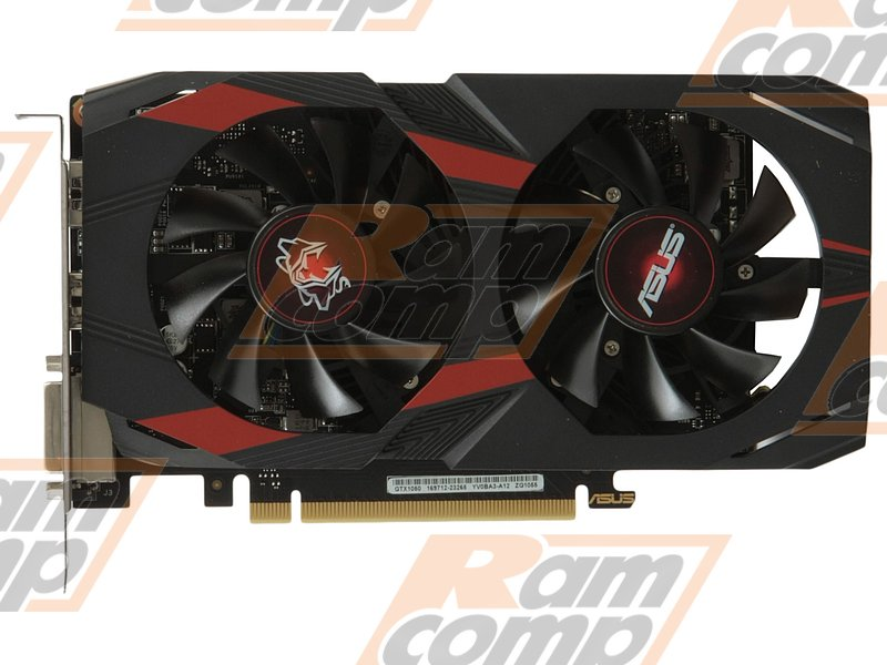 "Видеокарта ASUS ""GeForce GTX 1050 2ГБ"" CERBERUS-GTX1050-O2G (GeForce GTX 1050, DDR5, DVI, HDMI, DP) (PCI-E)"