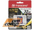 "Карта памяти 32ГБ Transcend ""TS32GSDHC10U1"" SecureDigital HC UHS-I Class10"